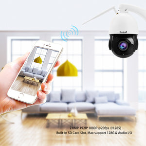 JideTech 2MP PTZ WiFI Camera with 20X Zoom