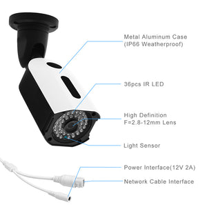 JideTech POE 5MP IP HD 2592x1944 Security 4X Zoom Bullet Camera