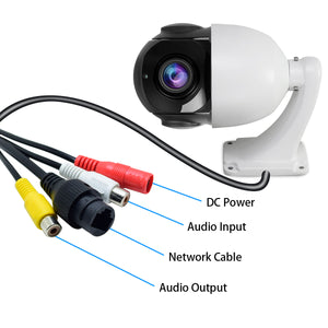 PTZ POE IP 2MP Dome Camera with 20X Optical Zoom