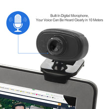 Load image into Gallery viewer, HD Webcam Manual Focus USB Web Camera with Microphone