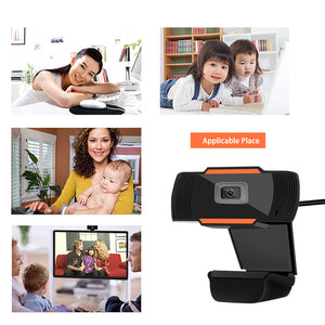 USB HD Webcam Web Camera PC Camera Video Record with Microphone 720P