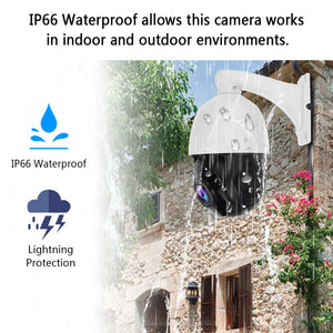 5MP PTZ POE IP Security Dome Camera with 20X Optical Zoom