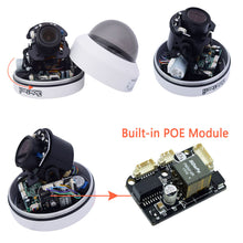 Load image into Gallery viewer, JideTech New 5.0MP PTZ Dome IP Camera With POE Module and SD Card Slot