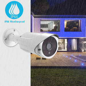 JideTech IP Security Camera 1080P,  POE(Power Over Ethernet) Outdoor Surveillance IP Camera,