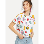 Allover Fruit Print T-shirt