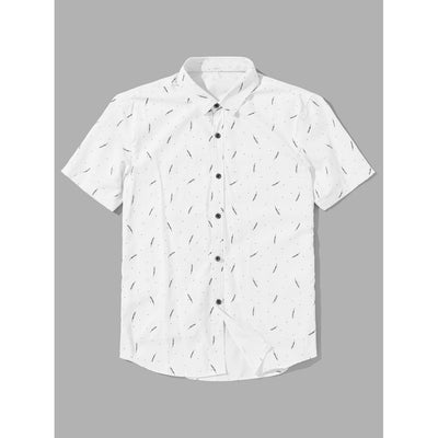 Men Branches Print Blouse