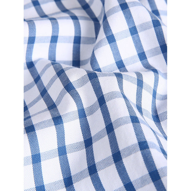 Men Gingham Plain Shirt
