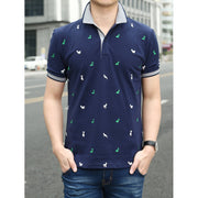 Men Cartoon Print Ringer Tee