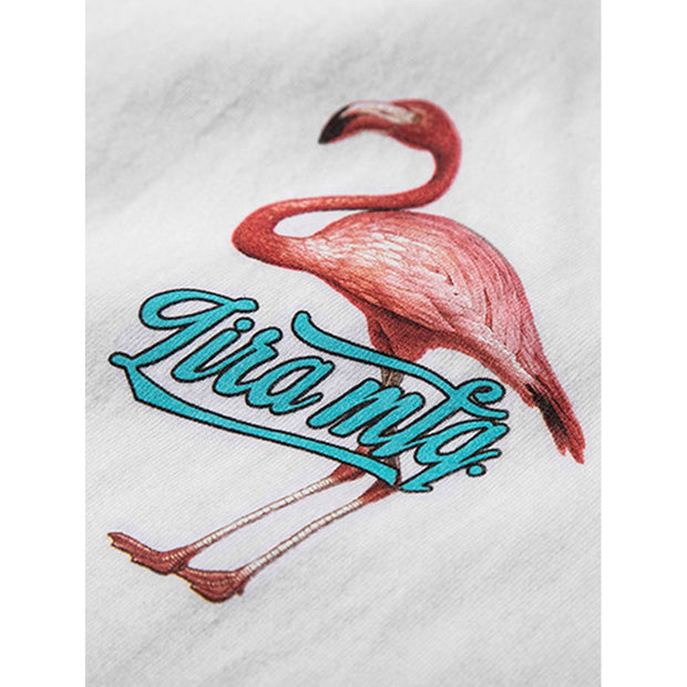 Men Flamingo Print T-shirt