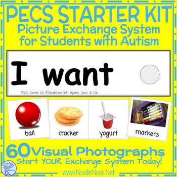 picture about Picture Cards for Autism Printable identified as PECS Novice Package for College students with Autism- Printable and Geared up towards Shift (Electronic Obtain)