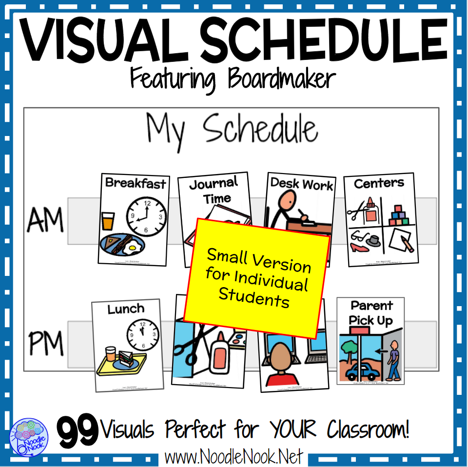 Visual Schedule Featuring Boardmaker Class Personal Schedules For S Nooked