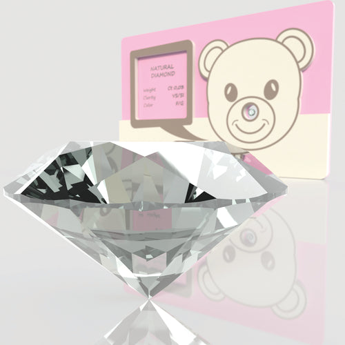 Dijamant Orso Betto roze 0,12 ct