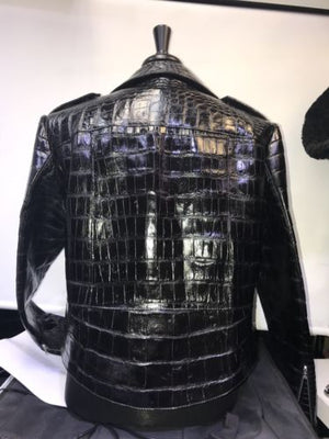 Alligator Custom Made Jacket Skin  Black Any Saiz Color S M L-6XL Best in USA