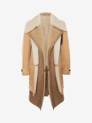 NEW ALEXANDER MCQUEEN MENS DUAL LAYER SHEARLING COAT