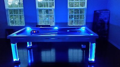 LUXURY CONVERTIBLE DINING POOL TABLE Billiard Dining Desk Fusion MONACO 7' 7 ft