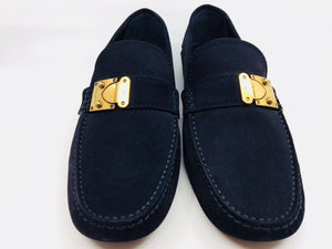 New Authentic Louis Vuitton Men's Loafers Racetrack Car Shoe 10.5 - 11 US #254