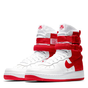 New Nike SF Air Force 1 Hi Mens High Top Shoes Sneakerboots - White / Red