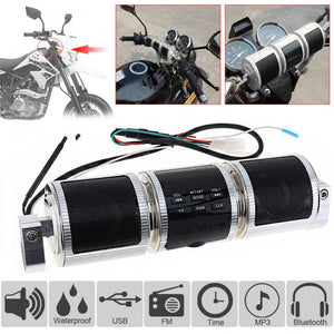 Motorcycle MP3 Music Player Speakers Motorbike Bluetooth Stereo Speaker FM Radio Waterproof Adjustable Bracket Audio Player