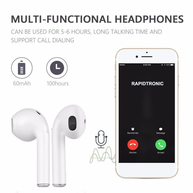 i9 TWS Magnetic Charging Earbudsi Bluetooth Earphone Mini Wireless In Ear V4.2 For IOS Android