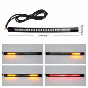 ALLOMN Motorcycle Brake & Turn signal Light Strip