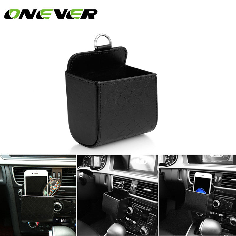 PU Leather Car Air vent holder Pouch