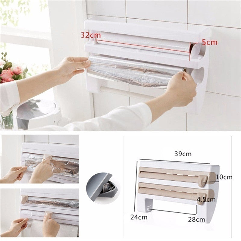 Multifunctional paper dispenser and storage rack