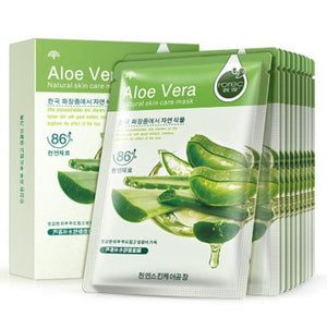 BIOAQUA 10Pcs Aloe Face Mask Sheet