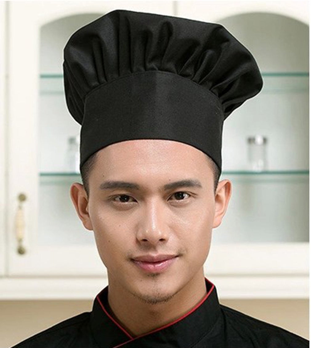 Chef Hat Adult Adjustable Elastic Baker Kitchen Cooking Chef Cap
