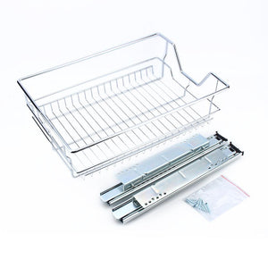 Kitchen Sliding Cabinet Organizer,Pull Out Chrome Wire Storage Basket Drawer Kitchen Cabinets