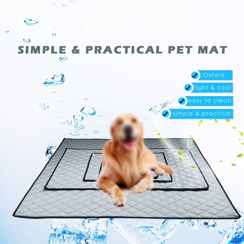 Thin Summer Car Seat Dog Mat Plaid Dog Cushions for Travel Easy Clean Pet Cushion Beds for Large Dogs Dropshipping Supported
