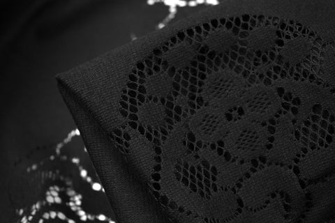 Cut Out Ebony - Panel Lace