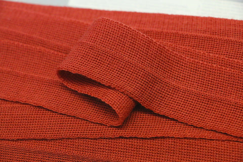 30mm Wool Binding - Burnt Orange