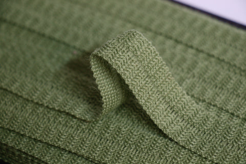 22mm Wool Binding - Sage Green