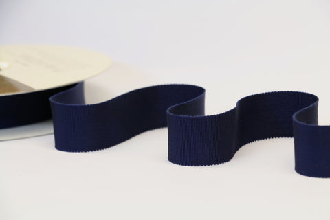 25mm Grosgrain Ribbon - Navy
