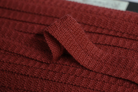 22mm Wool Binding - Russet
