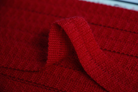 22mm Wool Binding - Red