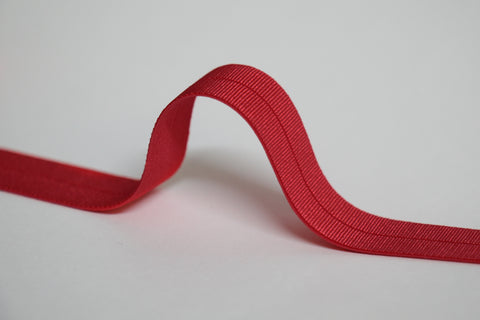 24mm Stretch Fold-Over Binding - Real Red