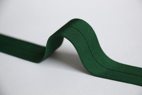18mm Stretch Fold-Over Binding - Bottle Green