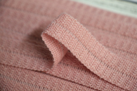 22mm Wool Binding - Baby Pink