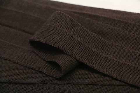 30mm Wool Binding - Dark Brown