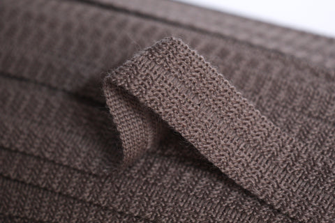 22mm Wool Binding - Mushroom Brown