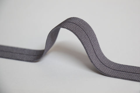 18mm Stretch Fold-Over Binding - Mid Grey