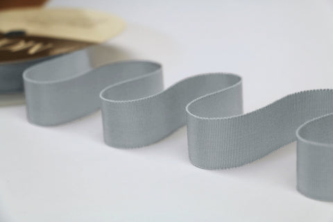 25mm Grosgrain Ribbon - Silver Grey