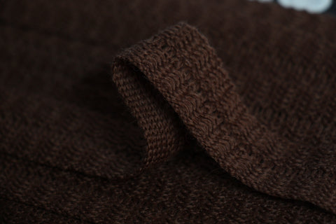 22mm Wool Binding - Dark Brown