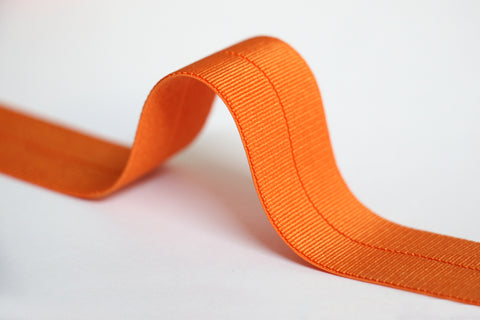 24mm Stretch Fold-Over Binding - Orange