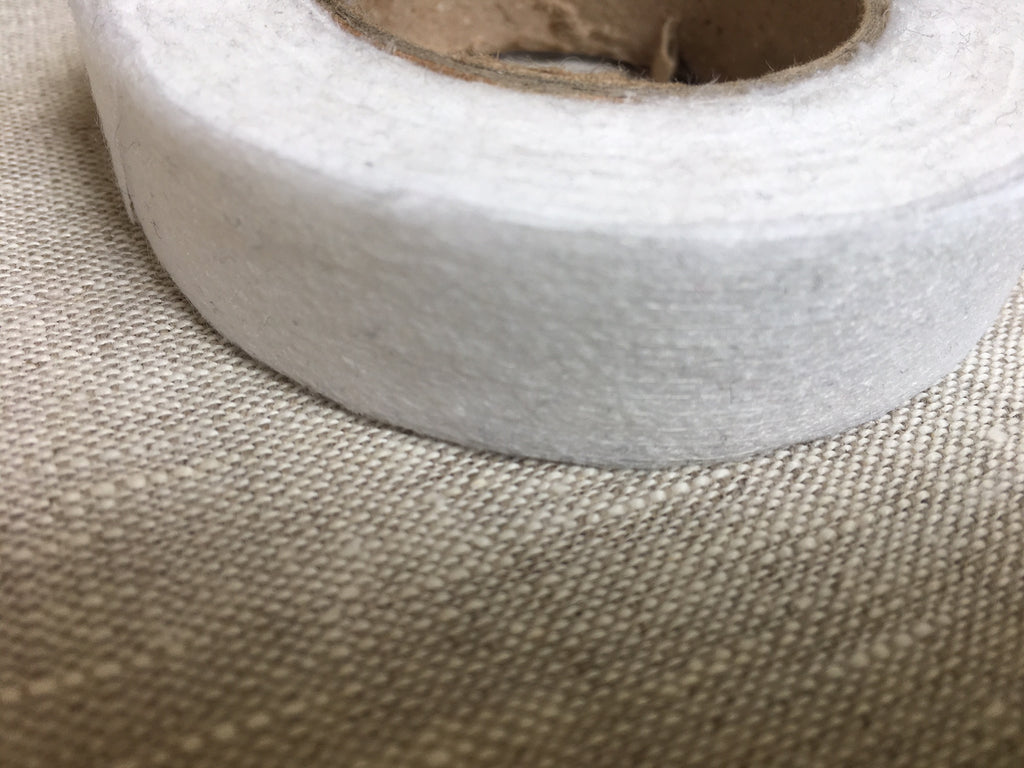 straight stay tape fusing white 9 10mm wide interfacing