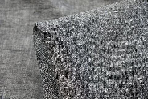 Pepper Crush - Crinkle Linen