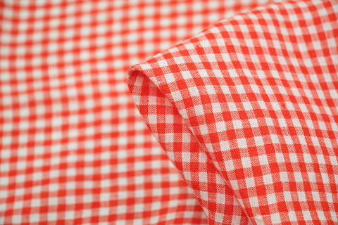 Bardot Check Washed Linen