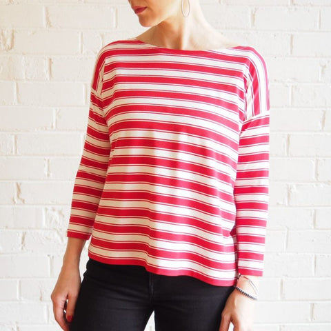 Mandy Boat Tee Pattern - now in FOUR sizes!