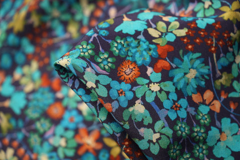 Dreams Of Summer - Liberty Silk Crepe De Chine